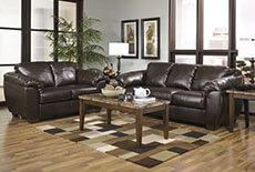 Ashley Bonded Leather Sofa and Loveseat